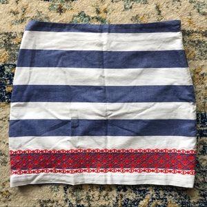 Vineyard Vines Striped Mini Skirt